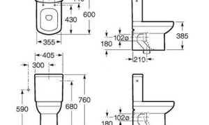 Размеры унитаза с бачком: как выбрать подходящее устройство для туалетной комнаты