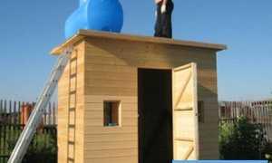 Как построить из бруса летний душ с раздевалкой на даче