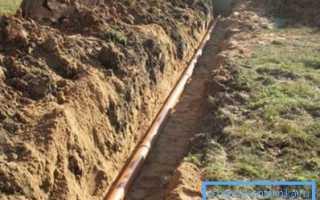 Траншея под водопровод: нормы, требования, особенности работ