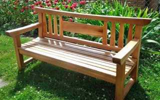 2 идеи скамеек из дерева для наружного размещения
