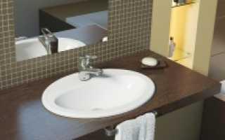 Круглая, овальная и прямоугольная раковина для ванной