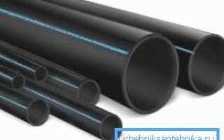 Труба ПЭ – особенности материала и различные варианты монтажа