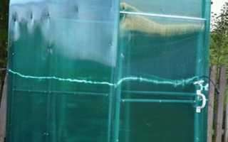 Как сделать дачный душ из поликарбоната