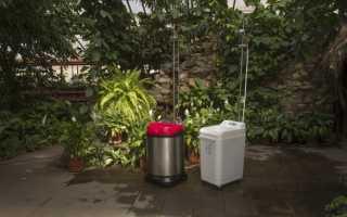 Мобильный душ – простое и удобное решение для загородного участка