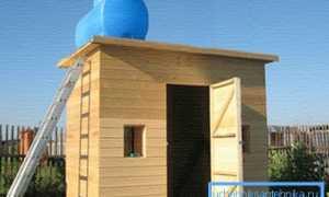 Создаем теплый душ на даче: выясняем технические моменты