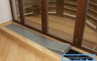 Радиаторы отопления в полу: как обогреть помещение со стеклянными стенами