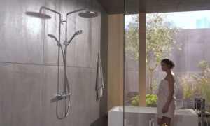 Душевой смеситель, встроенный в стойку – неплохой вариант для ванной комнаты