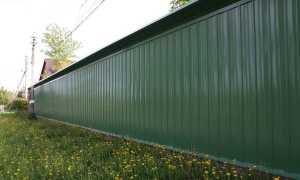 Забор из профнастила своими руками: как сделать и поставить?