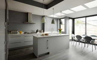 Шикарные дизайнерские идеи для серой кухни