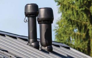 Диаметр и высота трубы над крышей для обустройства вентиляции