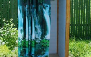 Удобный летний душ для дачи своими руками