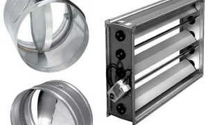 Вентиляционная заслонка: назначение, особенности конструкции, эксплуатация