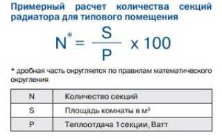Как рассчитать количество секций радиатора: стандартный, приблизительный и объемный способы вычисления, укорачивание и наращивание прибора