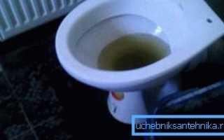 Что делать если в унитазе не уходит вода: способы устранения проблемы