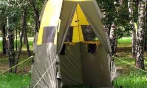 С комфортом в походе – душ-палатка