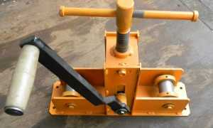 Трубогиб для профильной трубы: особенности конструкции и самостоятельное изготовление