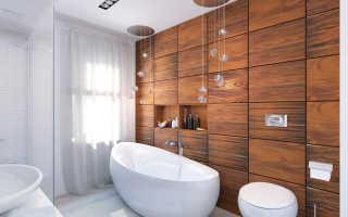 3 главные причины сделать отделку под дерево в ванной